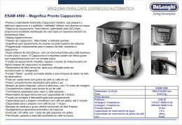 Máquinas para Café Espresso Manuais