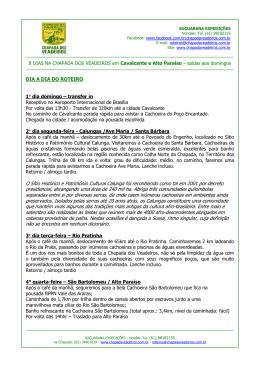 CHAPADA DOS VEADEIROS - 5 DIAS