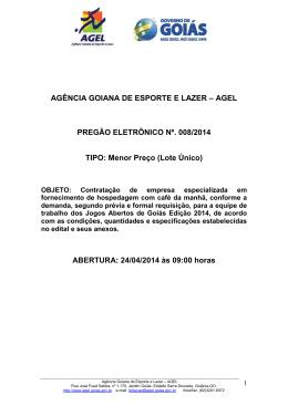 preg elet nº 008 - 2014 - hospedagem com café jag