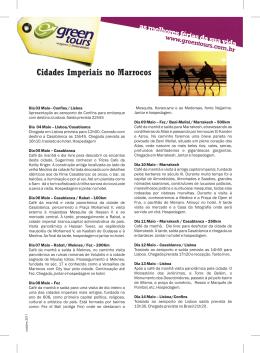 programa Cidades Imperiais no Marrocos - com