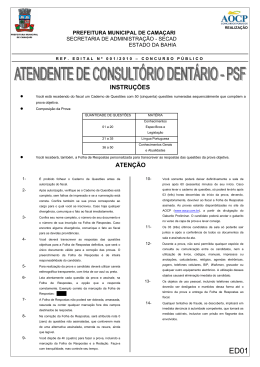 ED01 ATENDENTE DE CONSULTORIO DENTARIO PSF