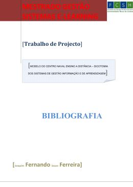 Bibliografia - Joaquim Fernando Sousa Ferreira