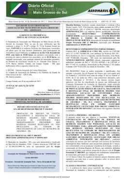 Mato Grosso do Sul , 01 de Dezembro de 2015 • Diário Oficial dos