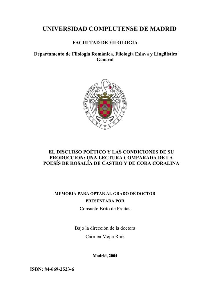 Rosalía de Castro y Cora Coralina - Biblioteca de la Universidad