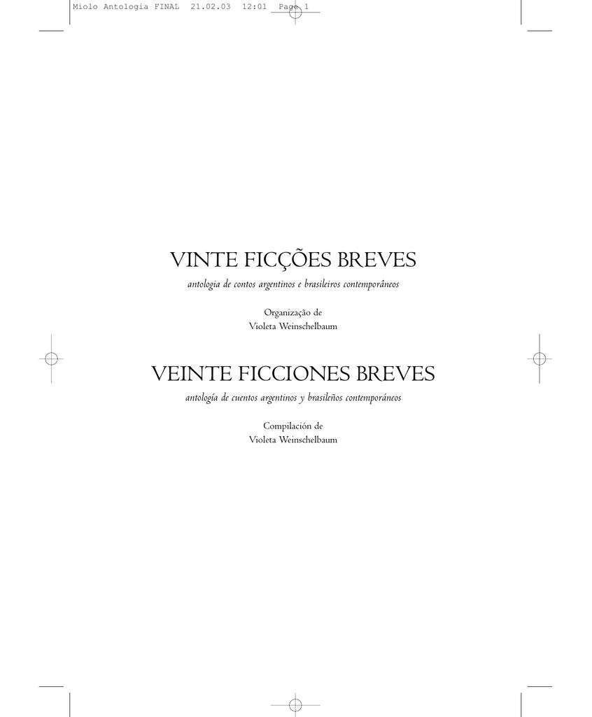 0982a60d65a2 antologia de contos argentinos e brasileiros