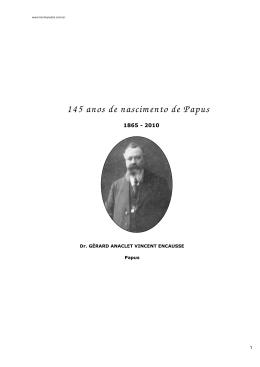 145 anos de nascimento de Papus grupo
