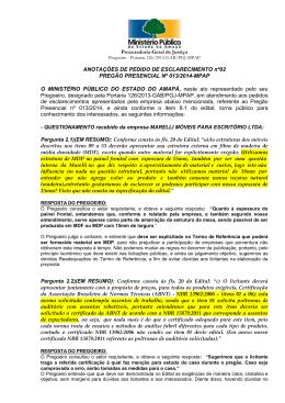 J U N T A D A - Ministério Público do Estado do Amapá