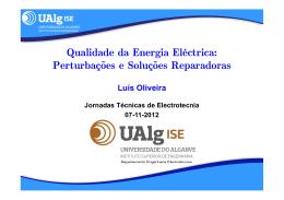 Qualidade da Energia Eléctrica - Instituto Superior de Engenharia