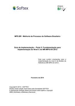 MPS.BR - Melhoria de Processo do Software Brasileiro Guia