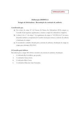 Recondução da comissão de auditoria