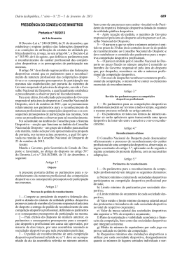 Portaria n.º 50/2013