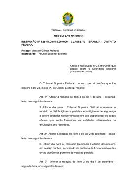 RESOLUÇÃO Nº XXXXX INSTRUÇÃO Nº 525