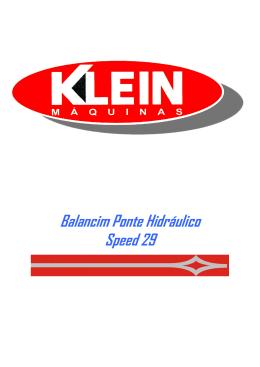 Balancim Ponte Hidráulico Speed 29