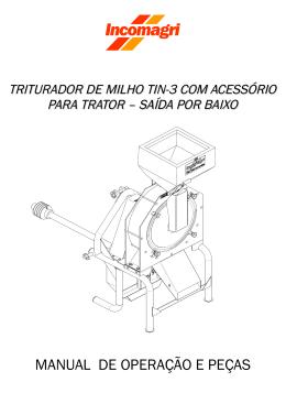 Manual de Operação e Peças (trator saída por baixo)