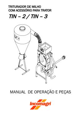 Manual de Operação e Peças TIN 2/3(acessório trator)