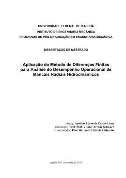 Aplicação do Método de Diferenças Finitas para Análise do