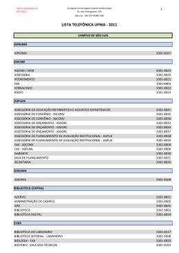 Lista de Telefones da UFMA - Informes