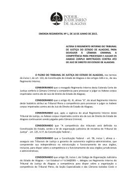 Emenda Regimental Nº 1, de 16 de Junho de 2015