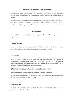aqui - Câmara Municipal do Funchal