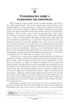 Capítulo 5 Considerações sobre a Pluralidade das existências 110