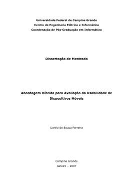 Dissertação de Mestrado Abordagem Híbrida para Avaliação da