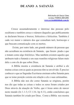 DE ANJO A SATANÁS