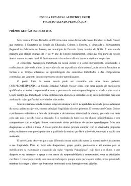 PROJETO- E E ALFREDO NASSER - Secretaria de Estado de