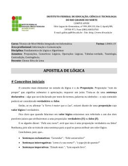APOSTILA DE LÓGICA - Docentes