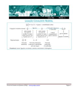 LIGAÇÃO COVALENTE NORMAL - Portal de Estudos em Química