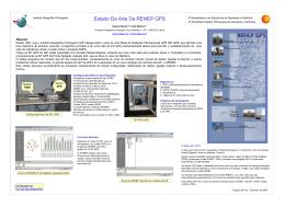 Estado Da Arte Da RENEP GPS - Instituto Geográfico Português