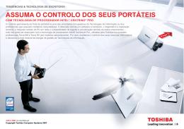 ASSumA O CONTROLO DOS SEuS pORTáTEIS