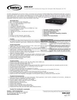 DHE-4CIF - Aventura Inc.