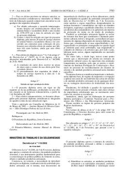 3703 MINISTÉRIO DO TRABALHO E DA SOLIDARIEDADE