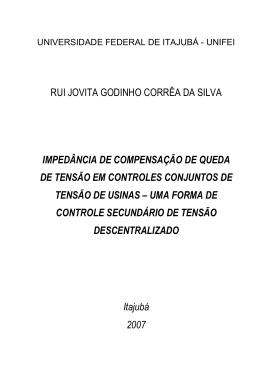 RUI JOVITA GODINHO CORRÊA DA SILVA IMPEDÂNCIA