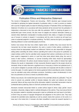 Publication Ethics and Malpractice Statement