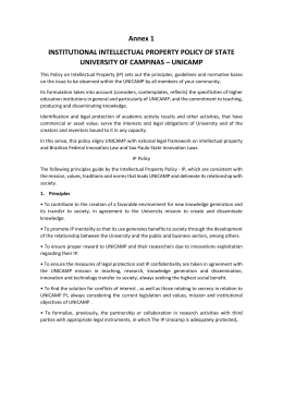 Annex 1 INSTITUTIONAL INTELLECTUAL PROPERTY POLICY OF