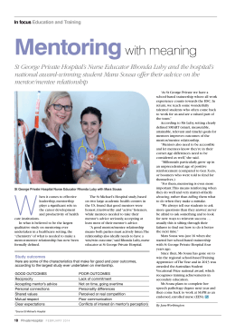Mentoring with meaning - Australian Private Hospitals Association