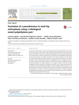 Formation of a pseudotumor in total hip arthroplasty using a