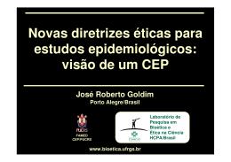Novas diretrizes éticas para estudos epidemiológicos