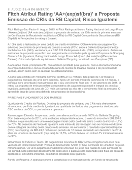 Rating CRI Iguatemi - Performance Invest