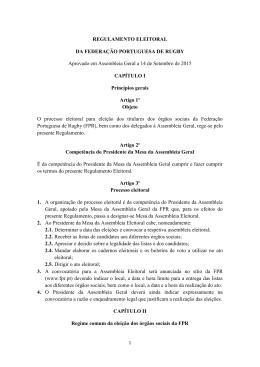 REGULAMENTO ELEITORAL DA FEDERAÇÃO PORTUGUESA DE