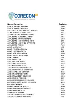 Colégio Eleitoral Provisório - CORECON-RS