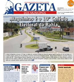 Alagoinhas é o 10º Colégio Eleitoral da Bahia