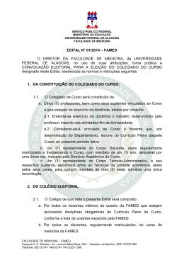 EDITAL N° 01/2014 - Universidade Federal de Alagoas