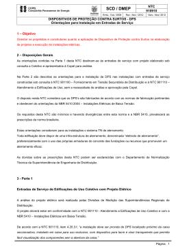 NTC 910910 DPS em Edificações - Orientações 051112