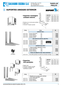 tarifa de preços - Salvador Escoda SA