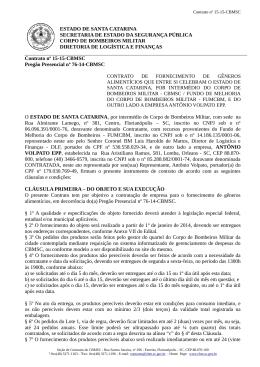 ESTADO DE SANTA CATARINA SECRETARIA DE