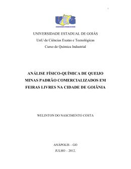 análise físico-química de queijo minas padrão - UnUCET
