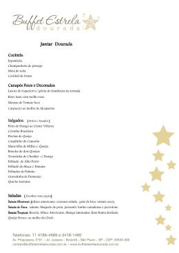Jantar (Dourada) - Buffet Estrela Dourada