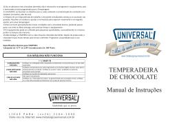 Clique para ver o Manual Completo da Temperadeira de Chocolate